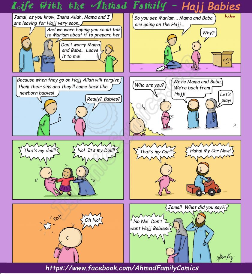 Life with the Ahmad Family Comics - Hajj Babies