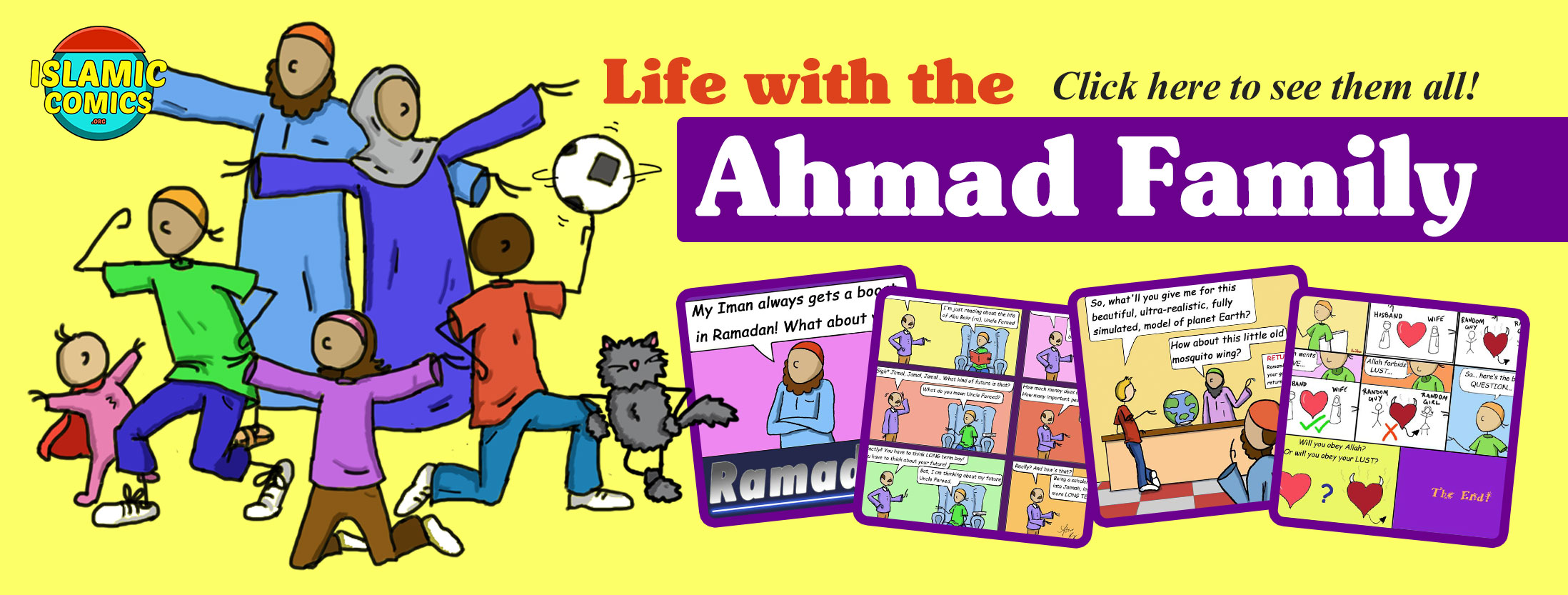Banner Ahmad Family Islamic Comics