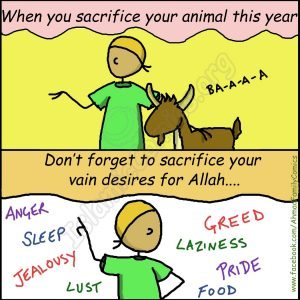 Before Your Sacrifice Your Animal this Eid ul Adha - Islamic Comics