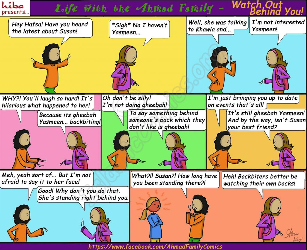 Watch Out Behind You! - Life with the Ahmad Family Comic