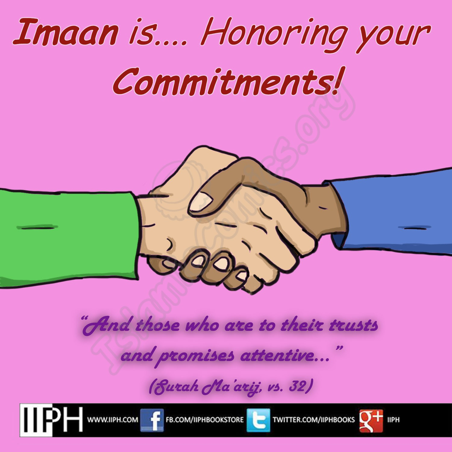 Imaan is Honoring Commitments - Islamic Illustrations (Islamic Comics)