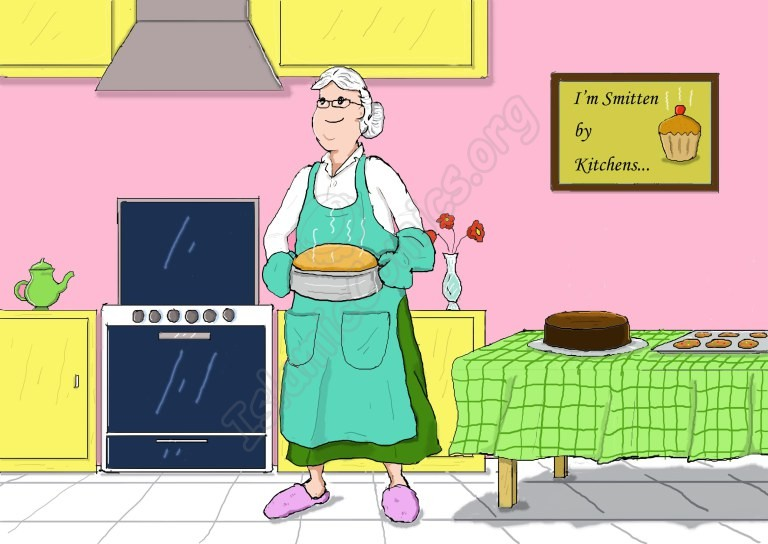 Here is Mrs. Anderson; she's Zainab's neighbor and LOVES to cook!