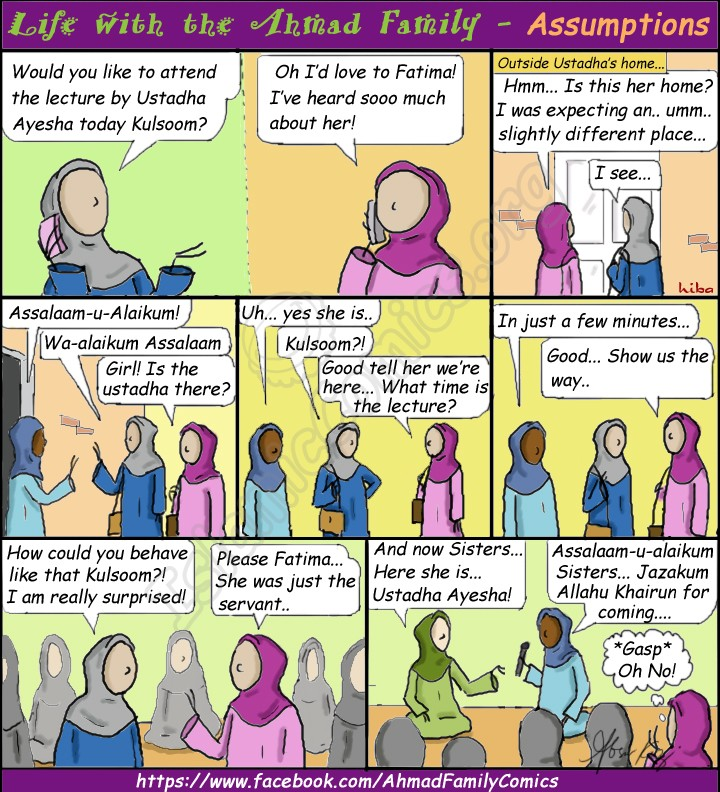 Islamic Comic about thinking before you leap!