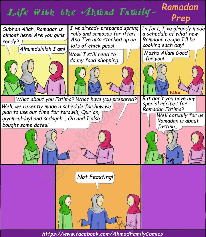 Life with the Ahmad Family Comic - Ramadan Prep (Islamic Comics)