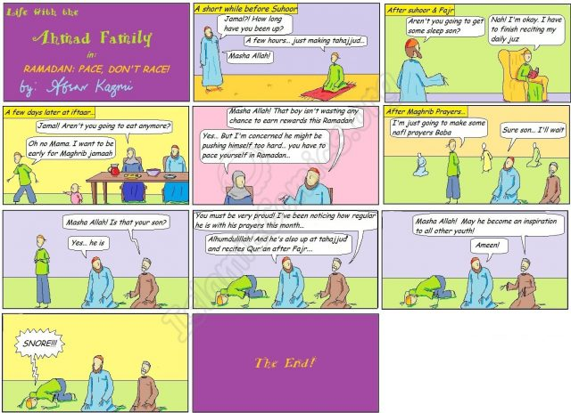 Ramadan: Pace, Dont Race! - Ahmad Family Islamic Comic