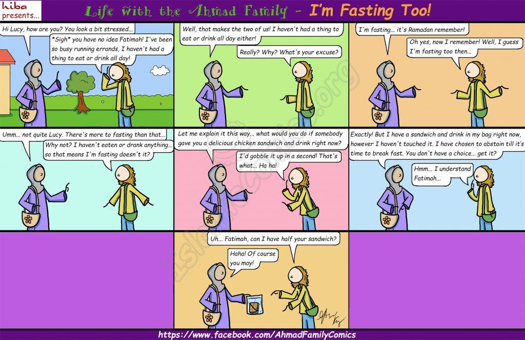 I'm Fasting Too! - Life with the Ahmad Family Comics (Islamic Comics)