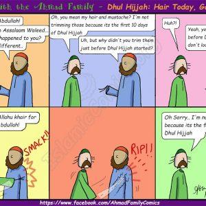 Dhul Hijjah - Hair Today, Gone Tomorrow (Ahmad Family Comic)