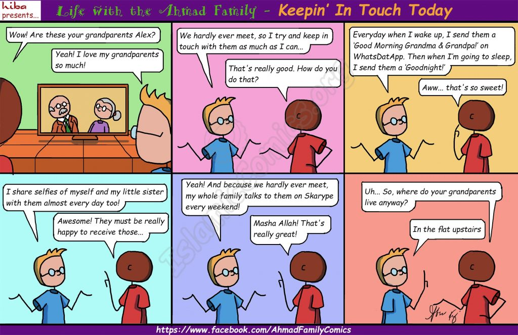 Keepin' in Touch - Life with the Ahmad Family Comics