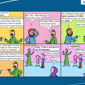 Ahmad Family Comic - Ramadan Goals
