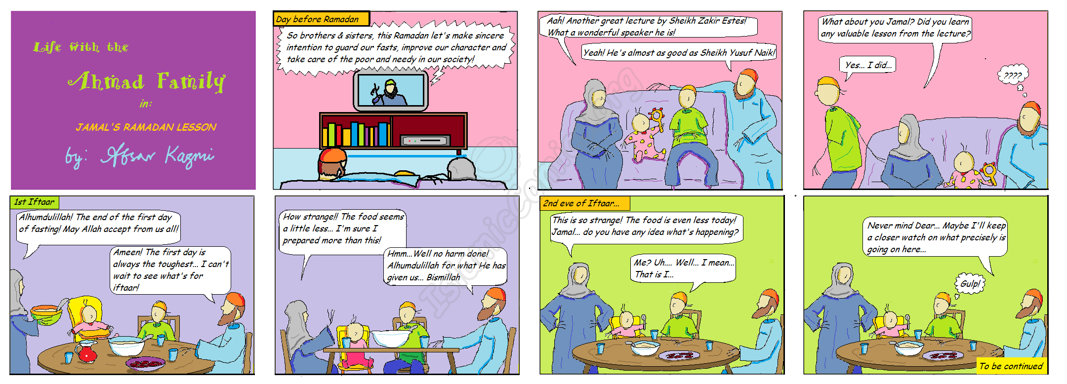 Jamal's Ramadan Deed Part 1 - Ahmad Family Islamic Comics