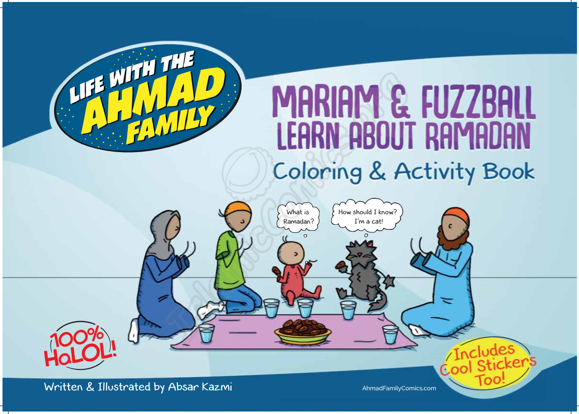 Mariam & Fuzzball Learn About Ramadan - Colouring & Activity Book!