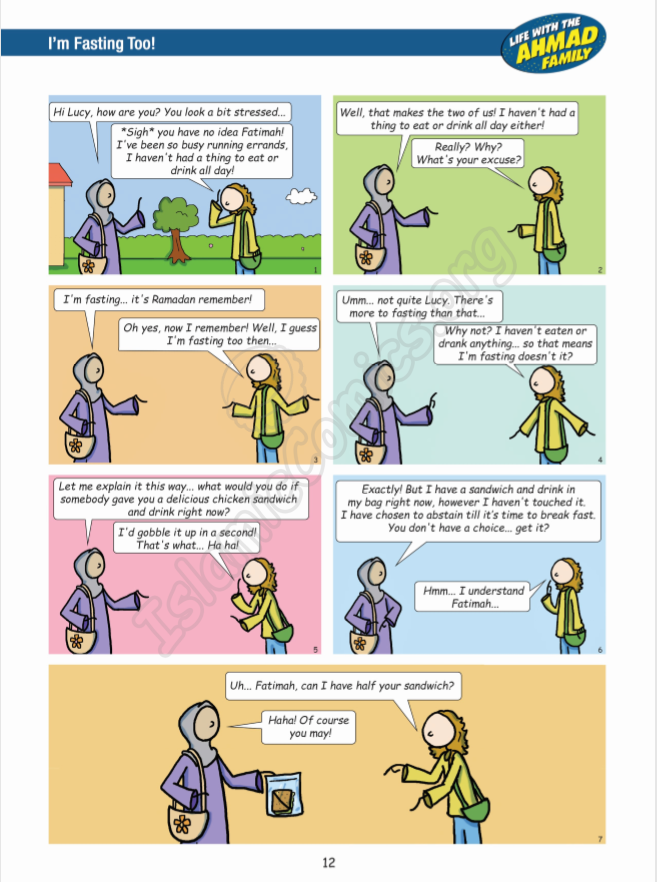 Life with the Ahmad Family - I'm Fasting Too! (Islamic Comics)