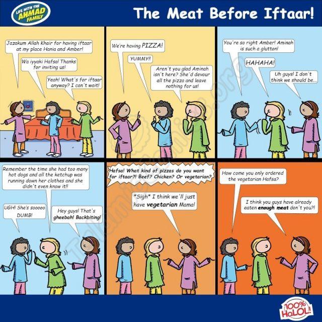 The Meat Before Iftaar - Ahmad Family Comics (Islamic Comics)