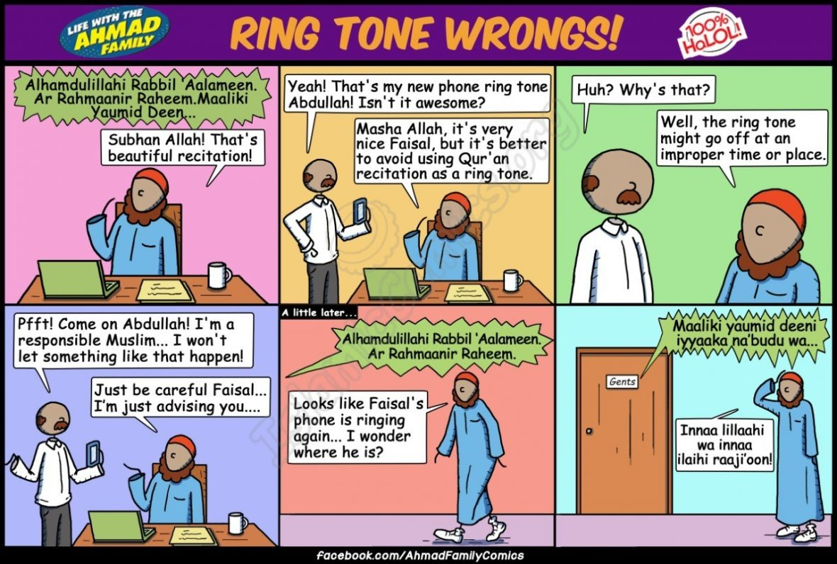 Ring Tone Wrongs - Islamic Comic