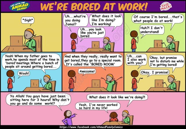 We're Bored at Work - Ahmad Family Islamic Comics