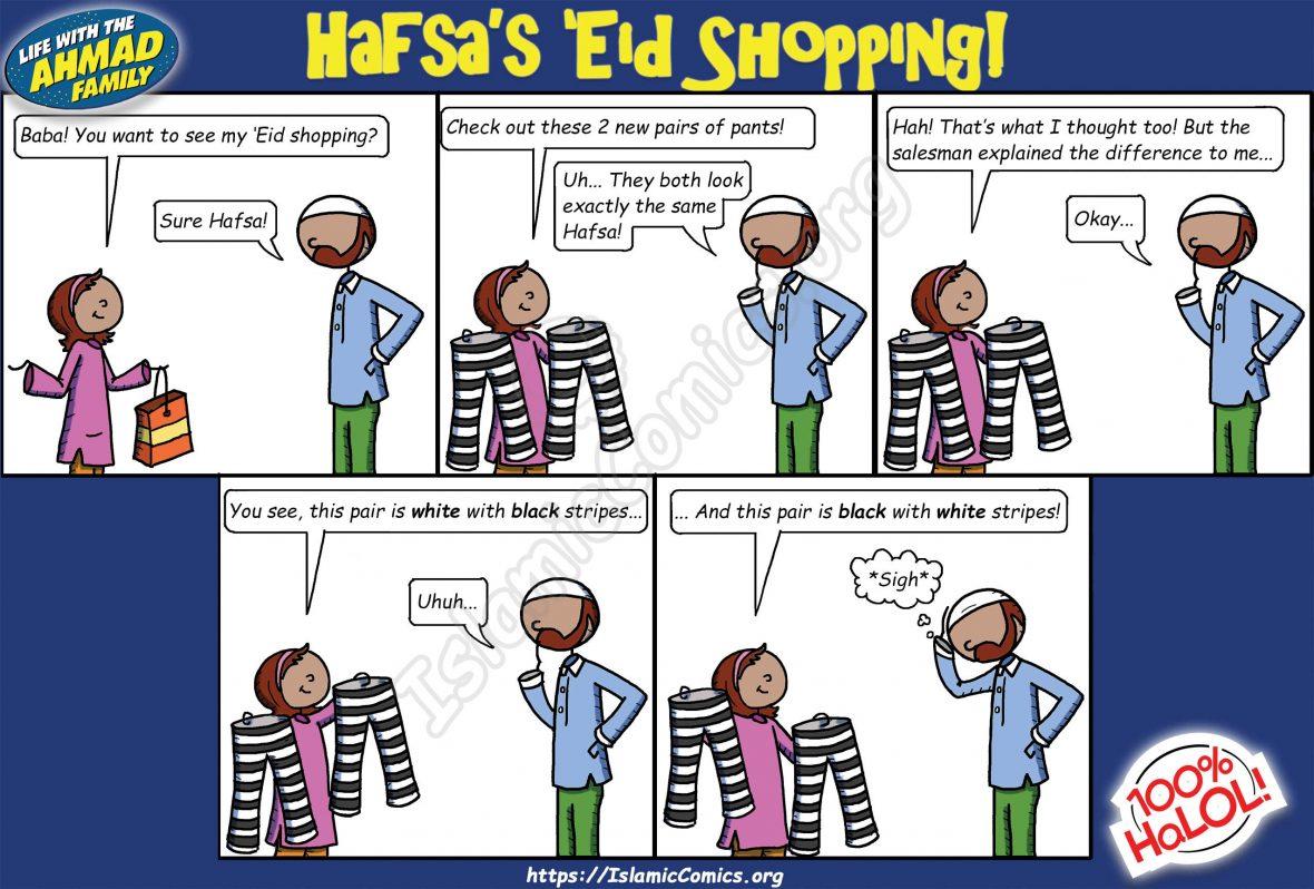 Ahmad Family Comic - Hafsa's Eid Shopping