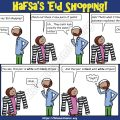 Ahmad Family Comic - Hafsa's Eid Shopping