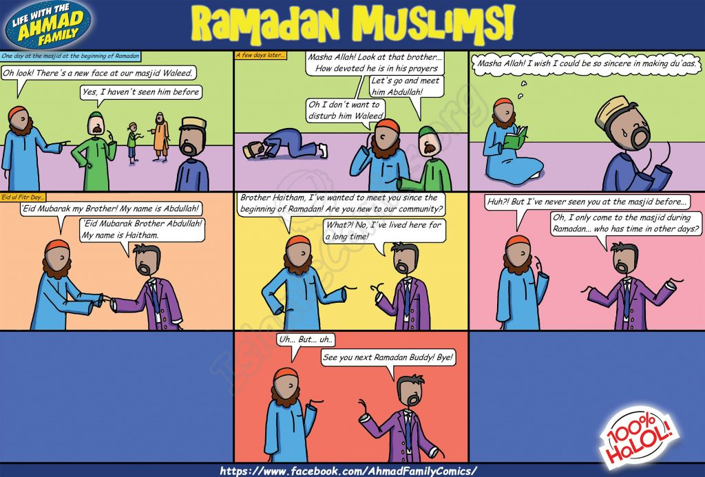 Ramadan Muslims! - Life with the Ahmad Family Comics!