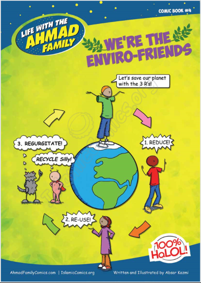 Life with the Ahmad Family Comic #4 - We're the Enviro-Friends!