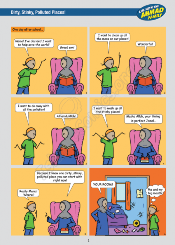 Life with the Ahmad Family Comic #4 - We're the Enviro-Friends! (Sample Page)