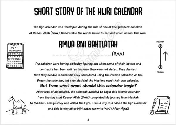 Jamal Explores the Islamic Months & the Hijri Calendar - Coloring & Activity Ebook (Sample Page)