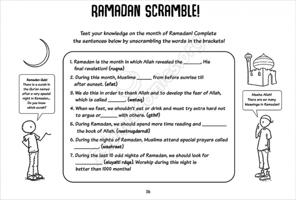 Jamal Explores the Islamic Months & the Hijri Calendar - Coloring & Activity Ebook (Sample Page)