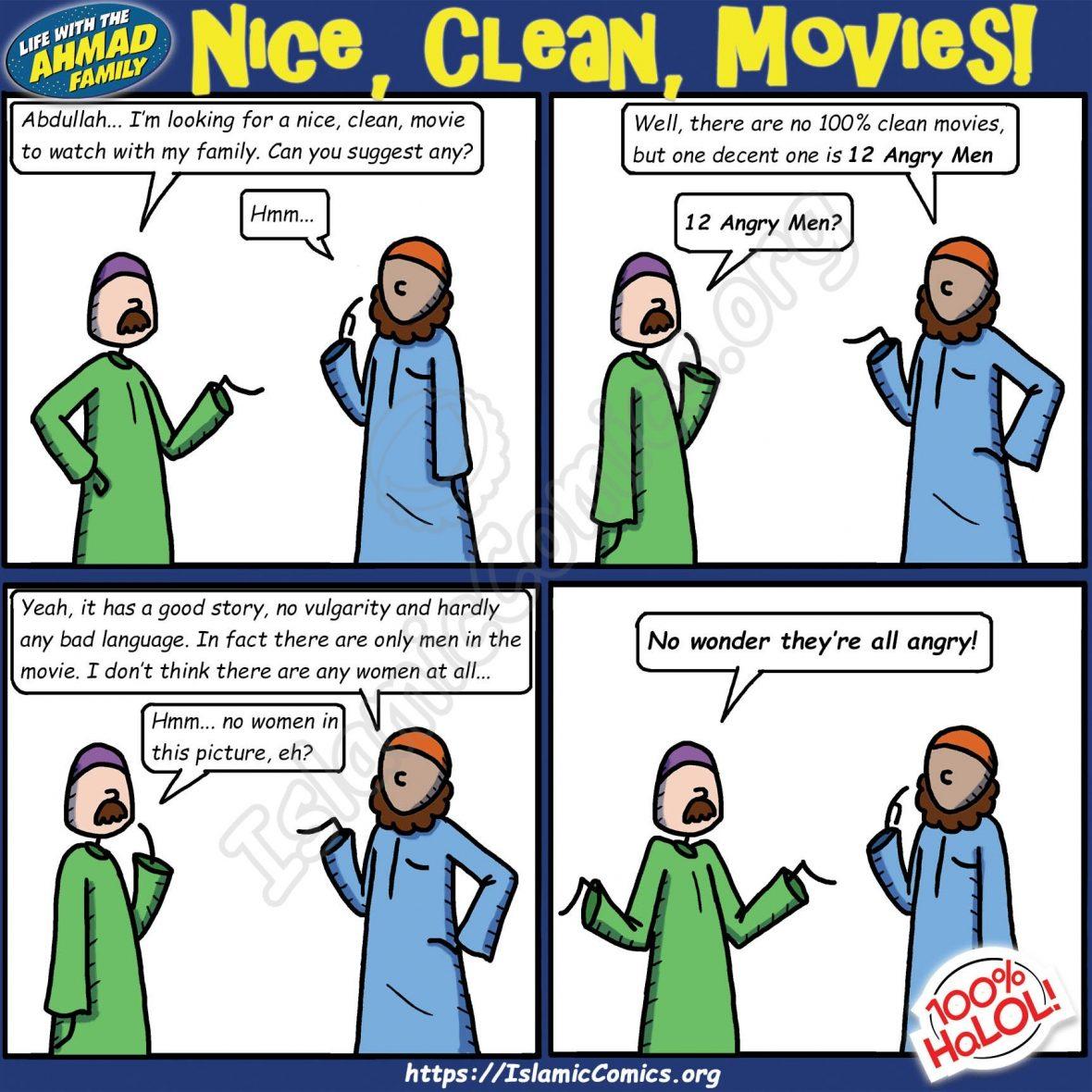 Nice, Clean Movies - Ahmad Family Comic