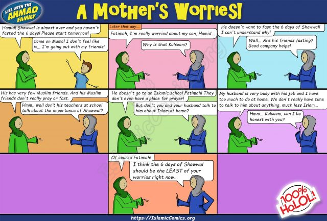 A Mother's Worries - Islamic Comic