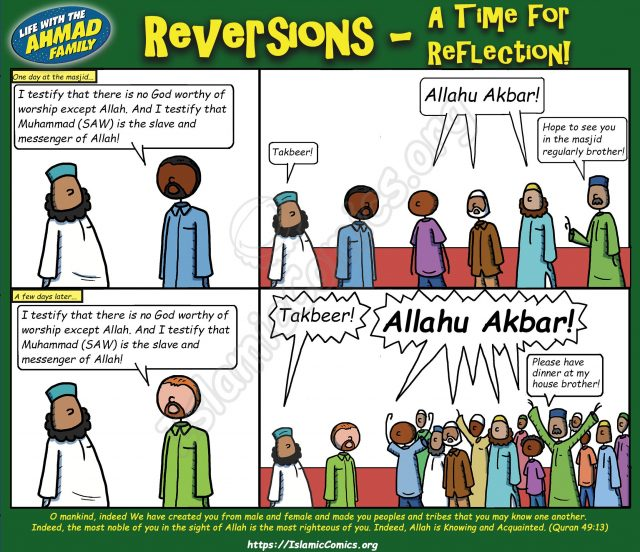 Reversions A Time for Reflection - Ahmad Family Comic
