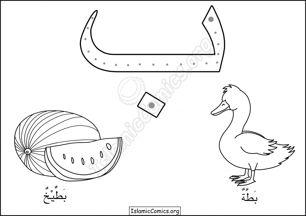 Baa - Letters of the Arabic Alphabet