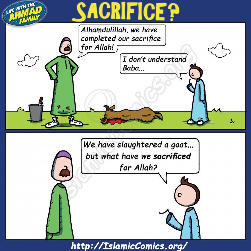 Sacrifice or Slaughter? - Ahmad Family Comic
