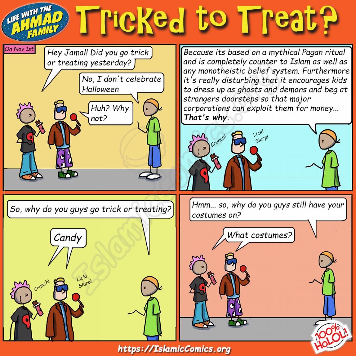 Tricked to Treat - Ahmad Family Comic