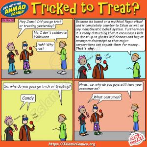 Tricked to Treat - Ahmad Family Comic