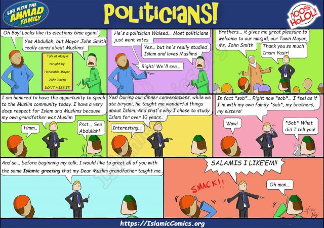 Ahmad Family Comics - Politics