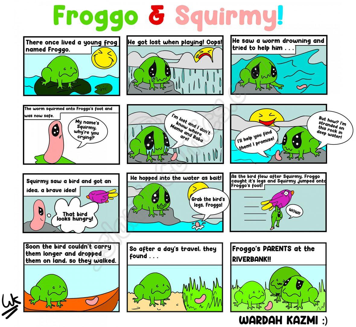 Froggo and Squirmy - Comic by Wardah