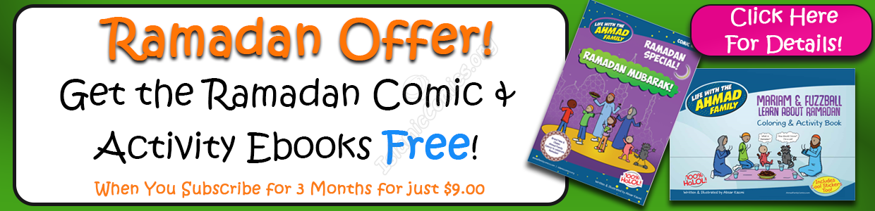 Ramadan Offer 2 Books for 3 Months - IslamicComics